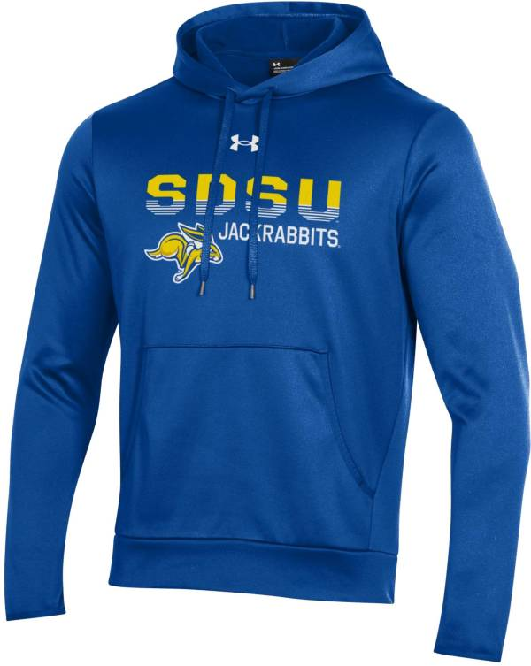 Under Armour Men's South Dakota State Jackrabbits Blue Armour Fleece Performance Hoodie product image