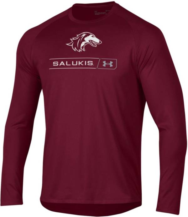 Under Armour Men's Southern Illinois  Salukis Maroon Long Sleeve Tech Performance T-Shirt product image