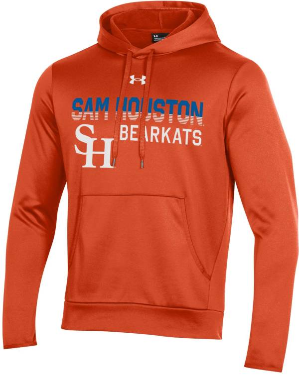 Under Armour Men's Sam Houston Bearkats Orange Armour Fleece Performance Hoodie product image