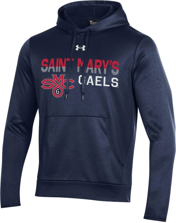 Under Armour Men's St. Mary's Gaels Navy Armour Fleece Performance Hoodie product image