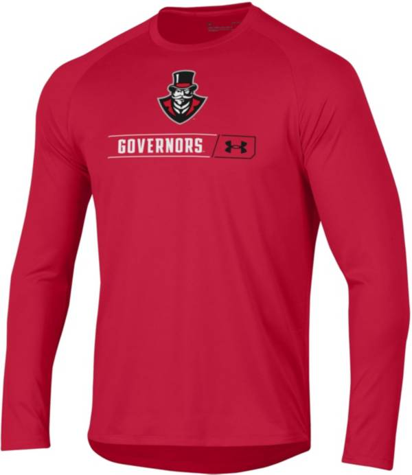 Under Armour Men's Austin Peay Governors Red Long Sleeve Tech Performance T-Shirt product image