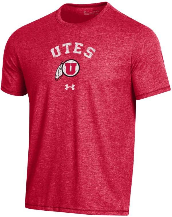Under Armour Men's Utah Utes Crimson Bi-Blend Performance T-Shirt product image