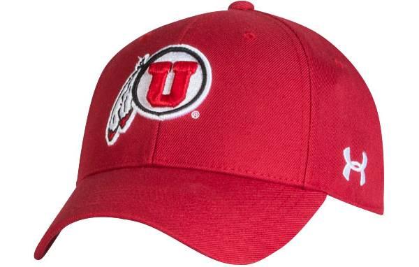 Under Armour Men's Utah Utes Crimson Adjustable Hat product image