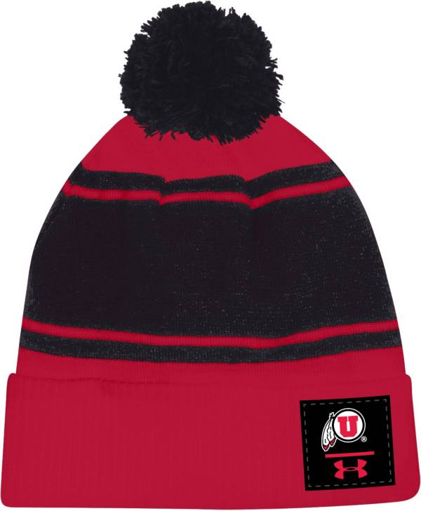 Under Armour Men's Utah Utes Crimson Pom Knit Beanie product image