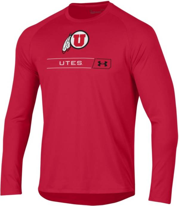Under Armour Men's Utah Utes Crimson Long Sleeve Tech Performance T-Shirt product image