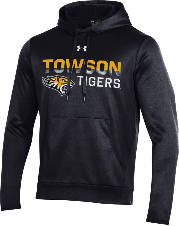 Under Armour Men's Towson Tigers Armour Fleece Performance Black Hoodie product image
