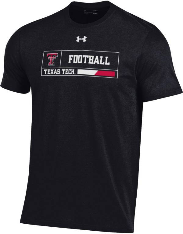 Under Armour Men's Texas Tech Red Raiders Performance Cotton Football Black T-Shirt product image