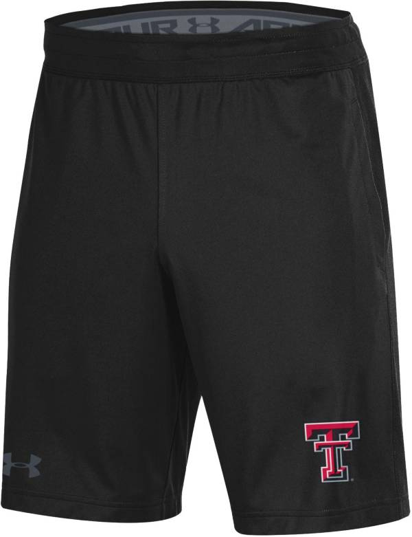 Under Armour Men's Texas Tech Red Raiders Raid Performance Black Shorts product image