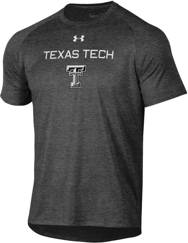 Under Armour Men's Texas Tech Red Raiders Grey Tech Performance T-Shirt product image