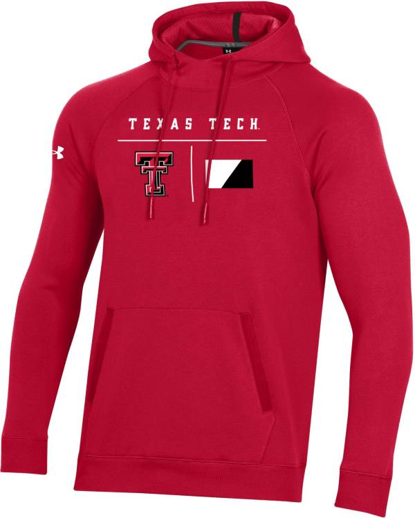 Under Armour Men's Texas Tech Red Raiders Red Campus Pullover Fleece Hoodie product image