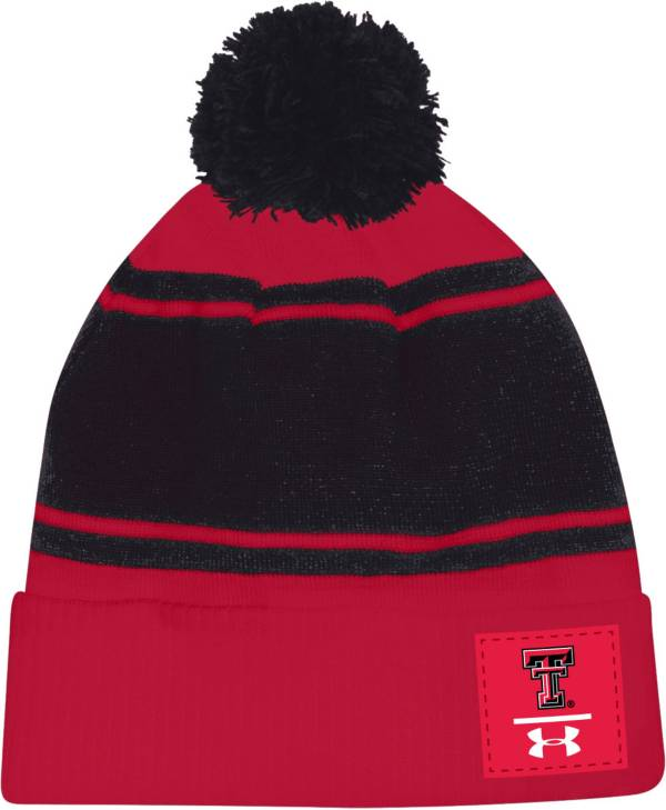 Under Armour Men's Texas Tech Red Raiders Red Pom Knit Beanie product image