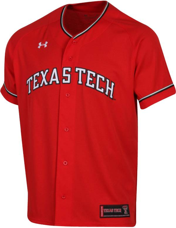 Under Armour Men's Texas Tech Red Raiders Red Replica Baseball Jersey product image