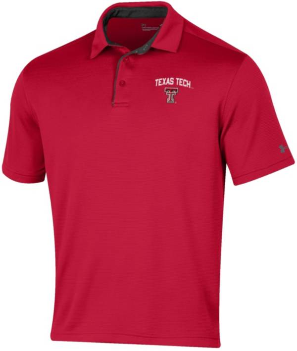 Under Armour Men's Texas Tech Red Raiders Red Tech Polo product image