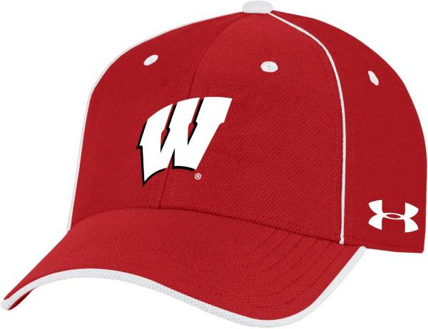 Under Armour Men's Wisconsin Badgers Red Isochill Adjustable Hat product image
