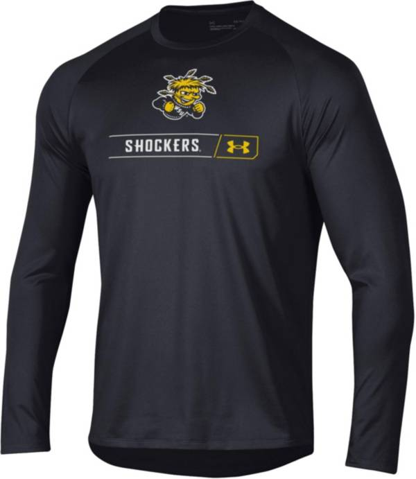 Under Armour Men's Wichita State Shockers Long Sleeve Tech Performance Black T-Shirt product image