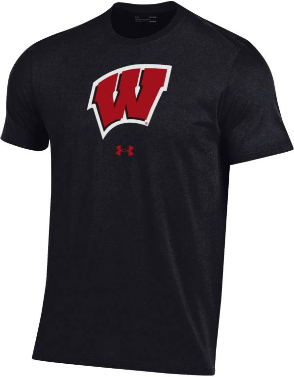 Under Armour Men's Wisconsin Badgers Performance Cotton Black T-Shirt product image