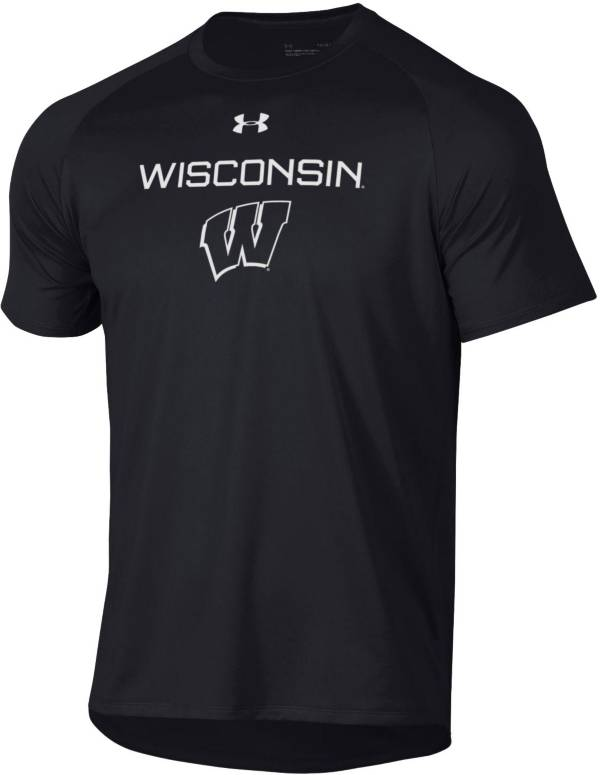 Under Armour Men's Wisconsin Badgers Tech Performance Black T-Shirt product image