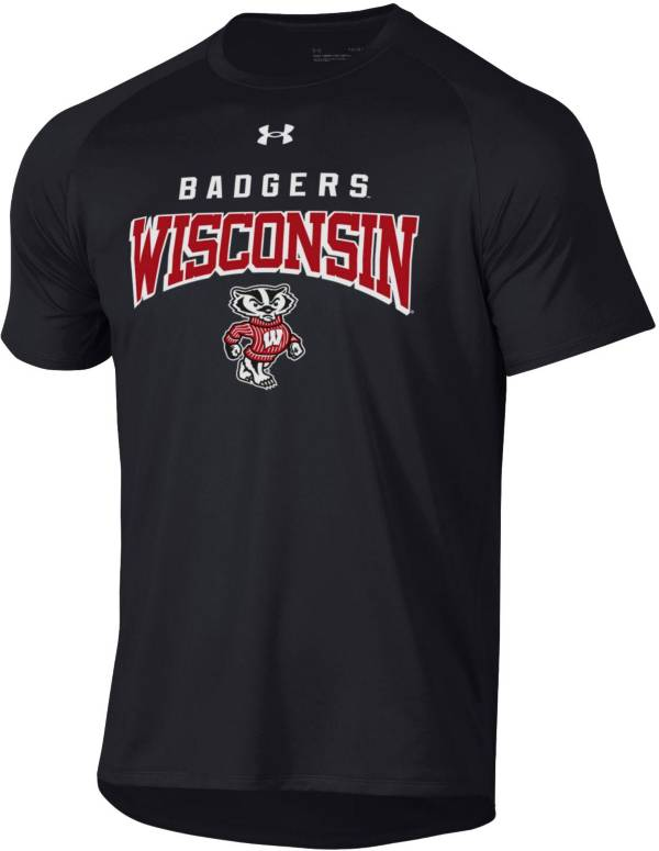 Under Armour Men's Wisconsin Badgers Tech Performance T-Black Shirt product image