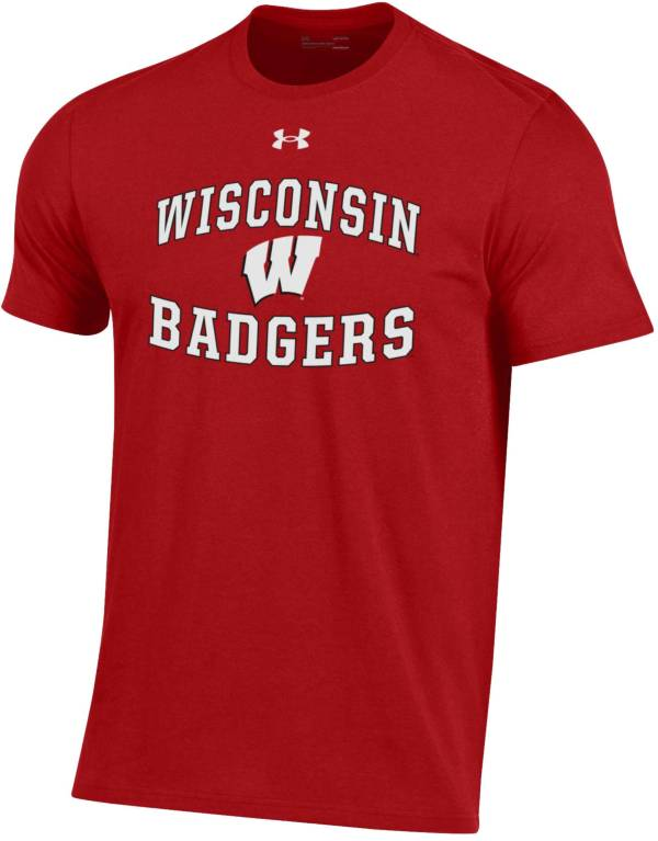 Under Armour Men's Wisconsin Badgers Red Performance Cotton T-Shirt product image