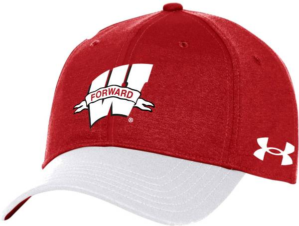 Under Armour Men's Wisconsin Badgers Red Forward Adjustable Hat product image