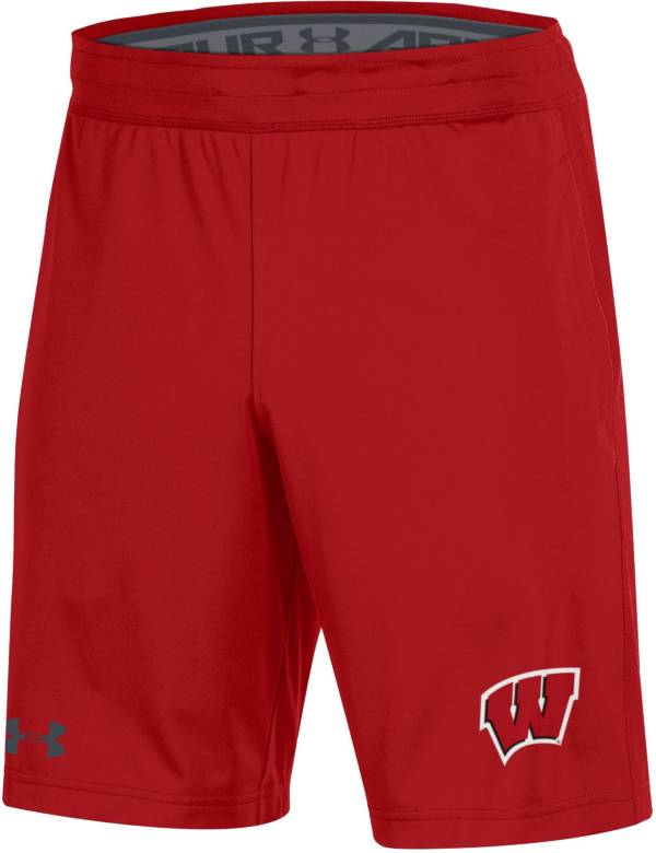 Under Armour Men's Wisconsin Badgers Red Raid Performance Shorts product image