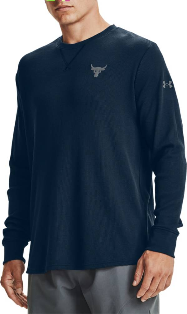 Under Armour Men's Project Rock Waffle Crewneck Long Sleeve Shirt product image
