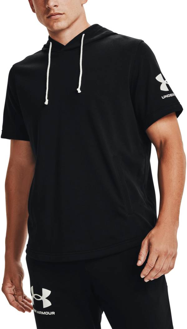 Under Armour Men's Rival Terry Short Sleeve Pullover Hoodie product image