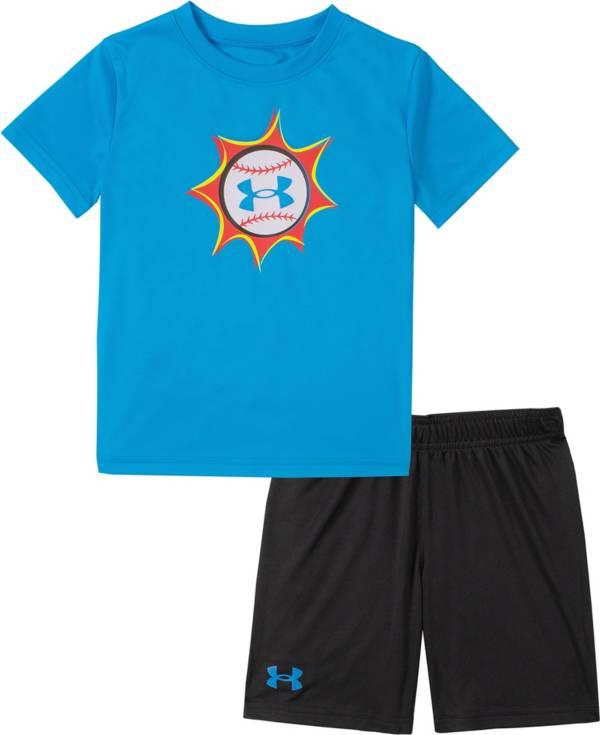 Under Armour Little Boys' Baseball Pow T-Shirt and Shorts Set product image