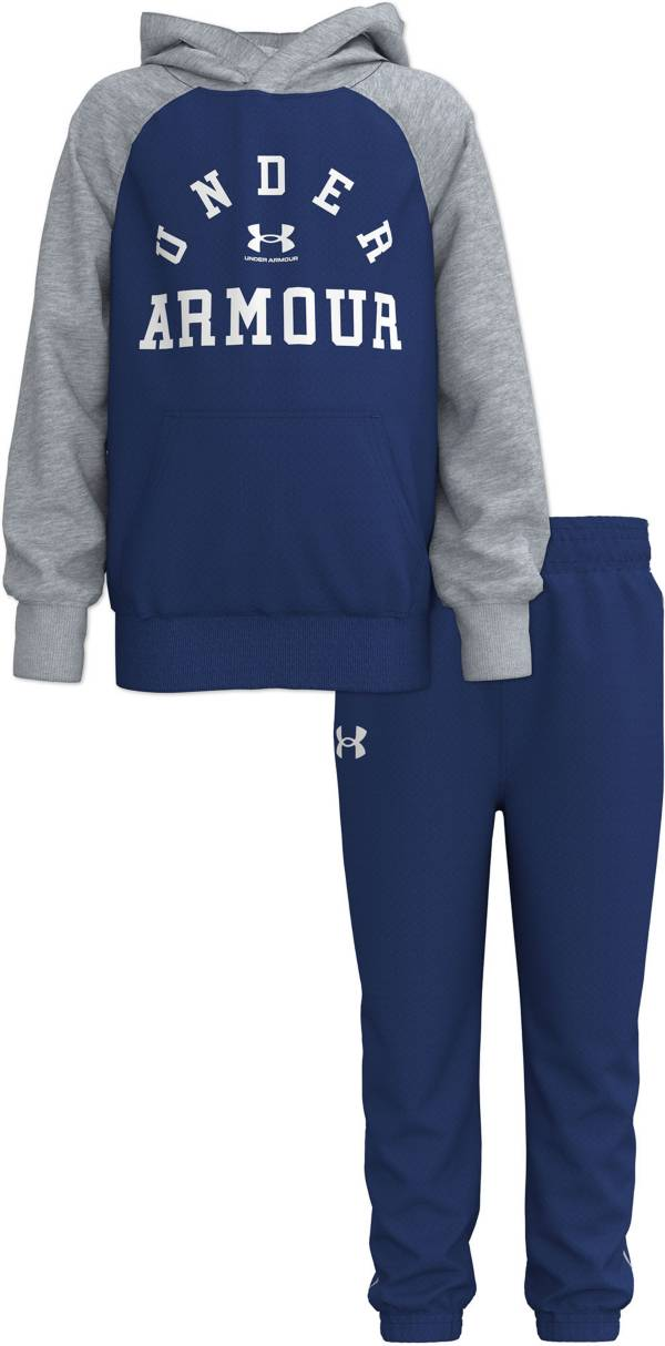 Under Armour Toddler Boys' Raglan Wordmark Pullover Hoodie and Pants Set product image