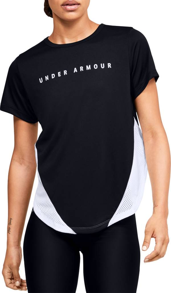 Under Armour Women's HeatGear Sport Mesh Panel Short Sleeve Shirt product image