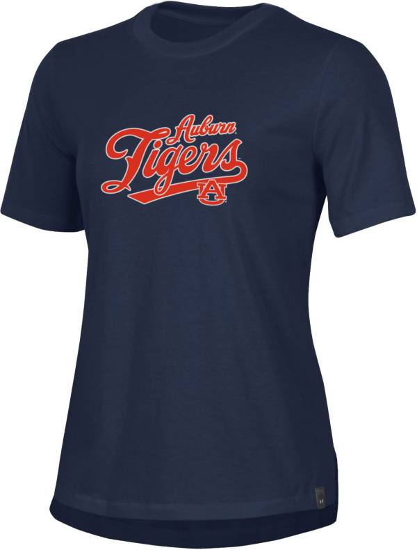 Under Armour Women's Auburn Tigers Blue Performance Cotton T-Shirt product image