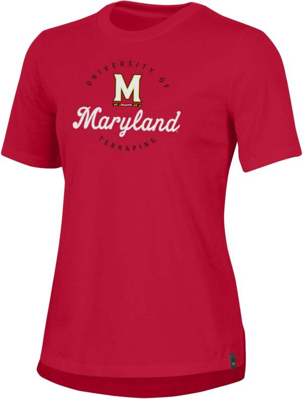 Under Armour Women's Maryland Terrapins Red Performance Cotton T-Shirt product image