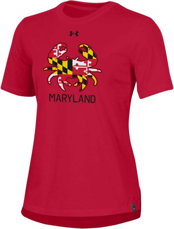Under Armour Women's Maryland Terrapins Red 'Maryland Pride' Performance Cotton T-Shirt product image