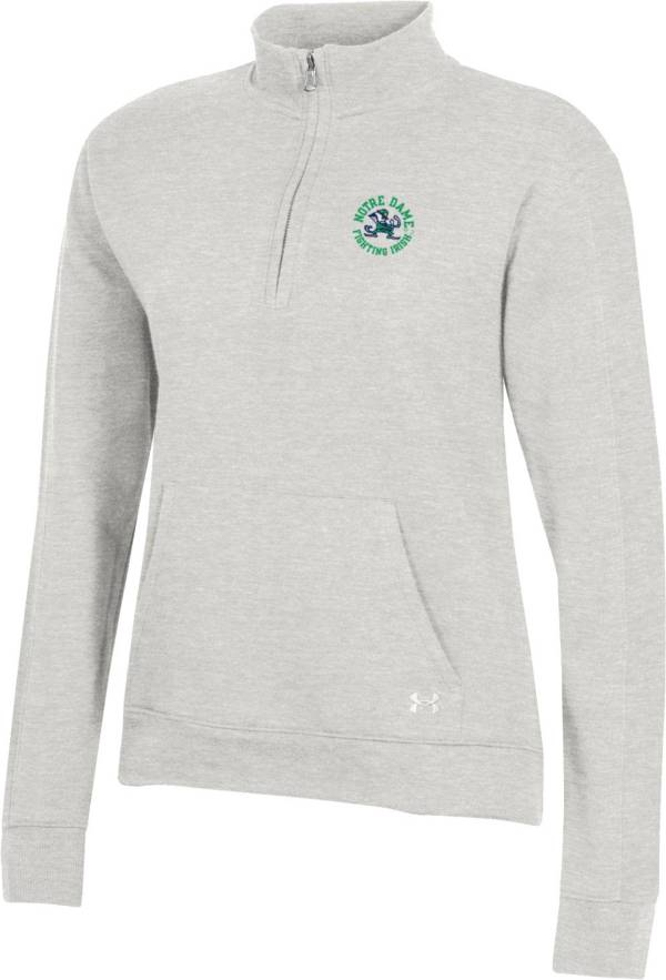 Under Armour Women's Notre Dame Fighting Irish Grey All Day Quarter-Zip Shirt product image