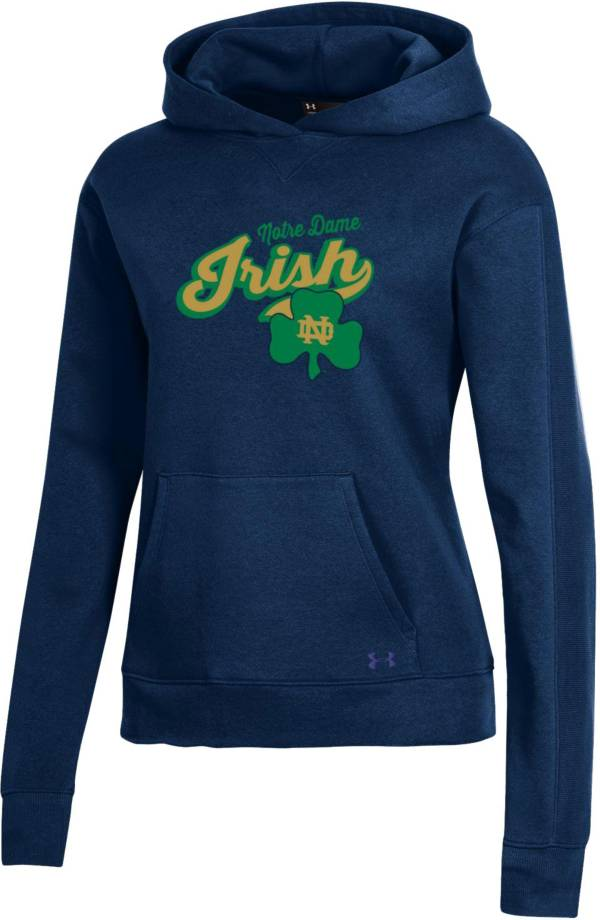 Under Armour Women's Notre Dame Fighting Irish Navy All Day Hoodie product image