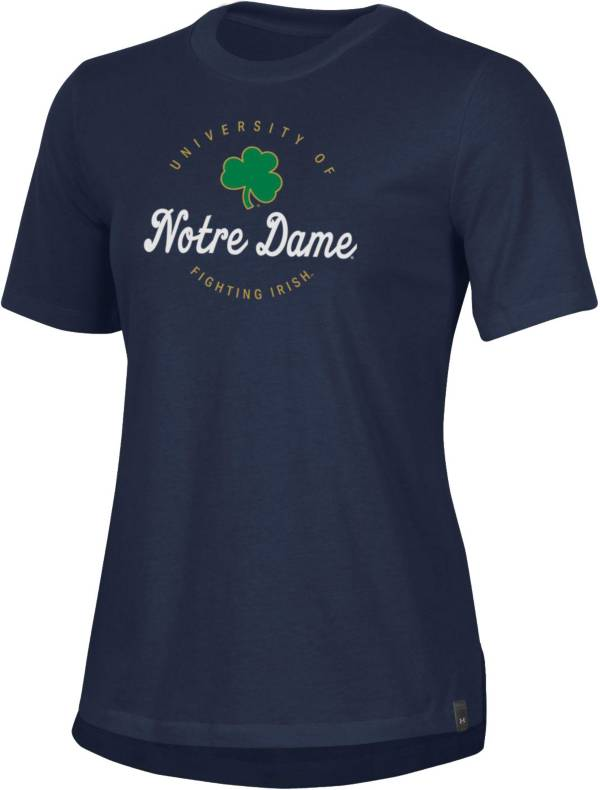 Under Armour Women's Notre Dame Fighting Irish Navy Performance Cotton T-Shirt product image