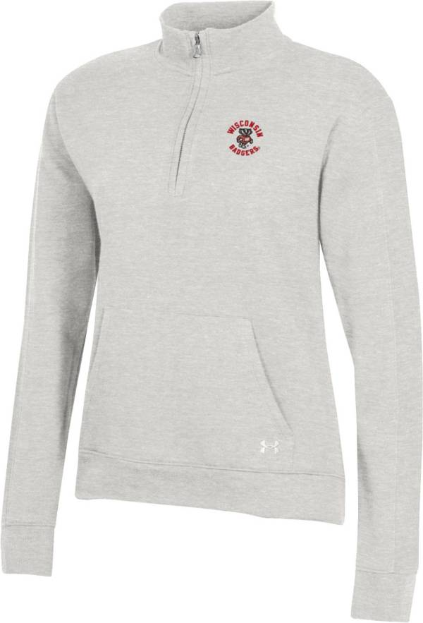 Under Armour Women's Wisconsin Badgers Grey All Day Quarter-Zip Shirt product image