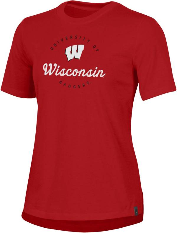 Under Armour Women's Wisconsin Badgers Red Performance Cotton T-Shirt product image