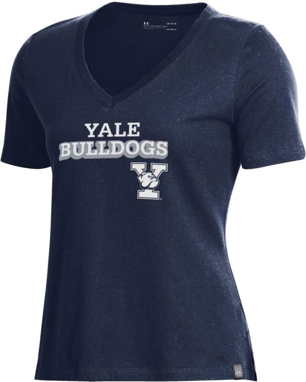 Under Armour Women's Yale Bulldogs Yale Blue Performance Cotton V-Neck T-Shirt product image