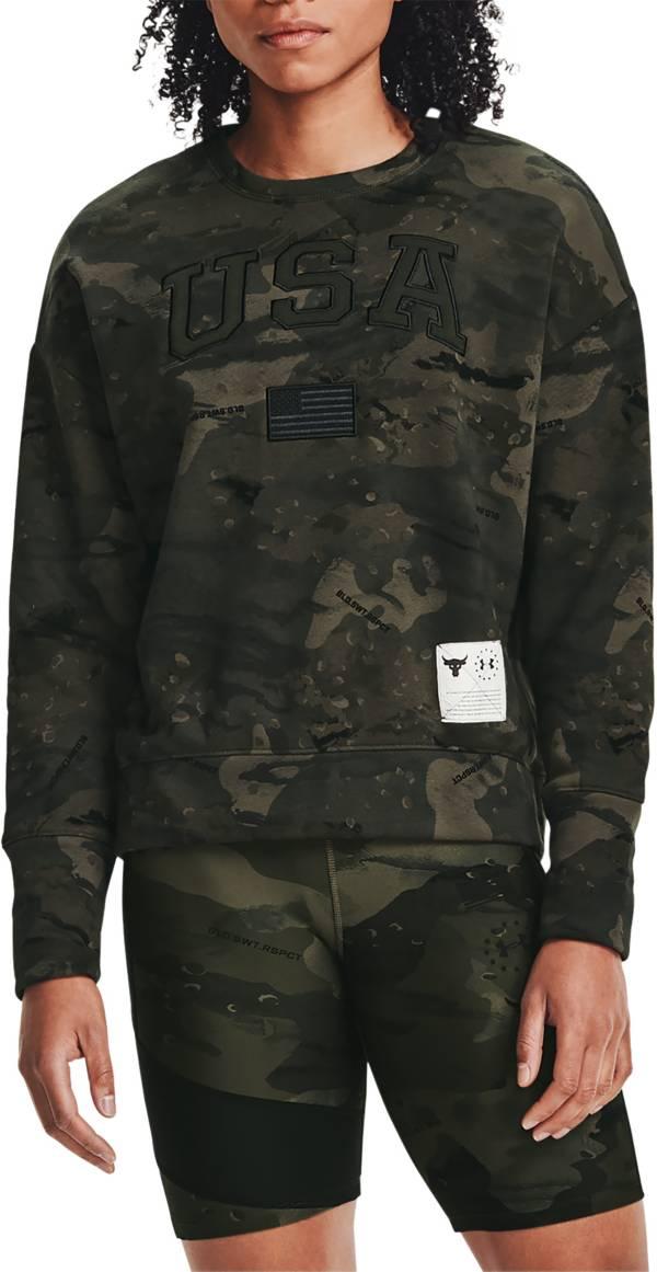 Under Armour Women's Project Rock Veteran's Day Fleece Crew Sweatshirt product image