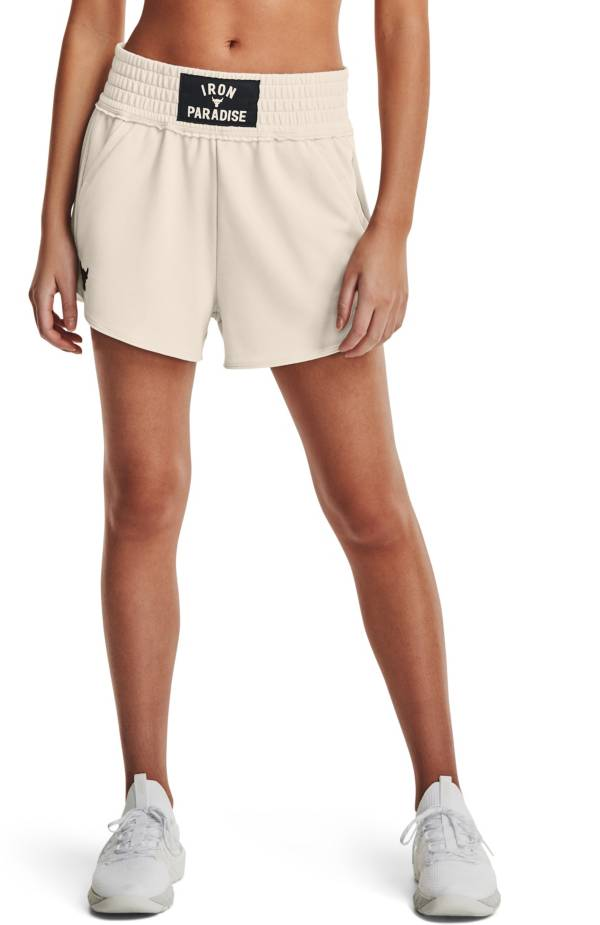 Under Armour Women's Project Rock Terry Flag Shorts product image