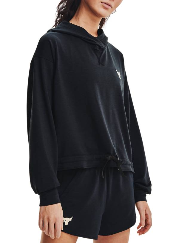 Under Armour Women's Project Rock Terry Pullover Hoodie product image