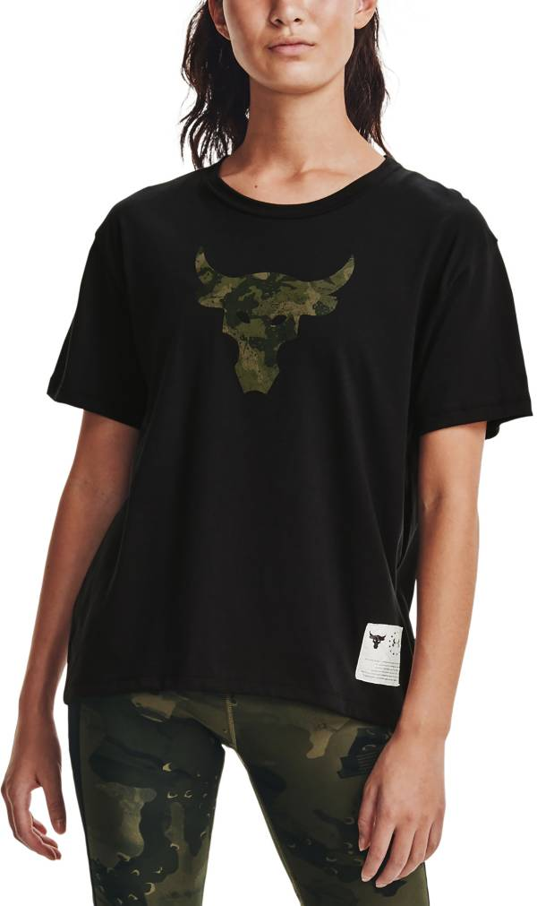 Under Armour Women's Project Rock Veteran's Day Brahma Bull T-Shirt product image