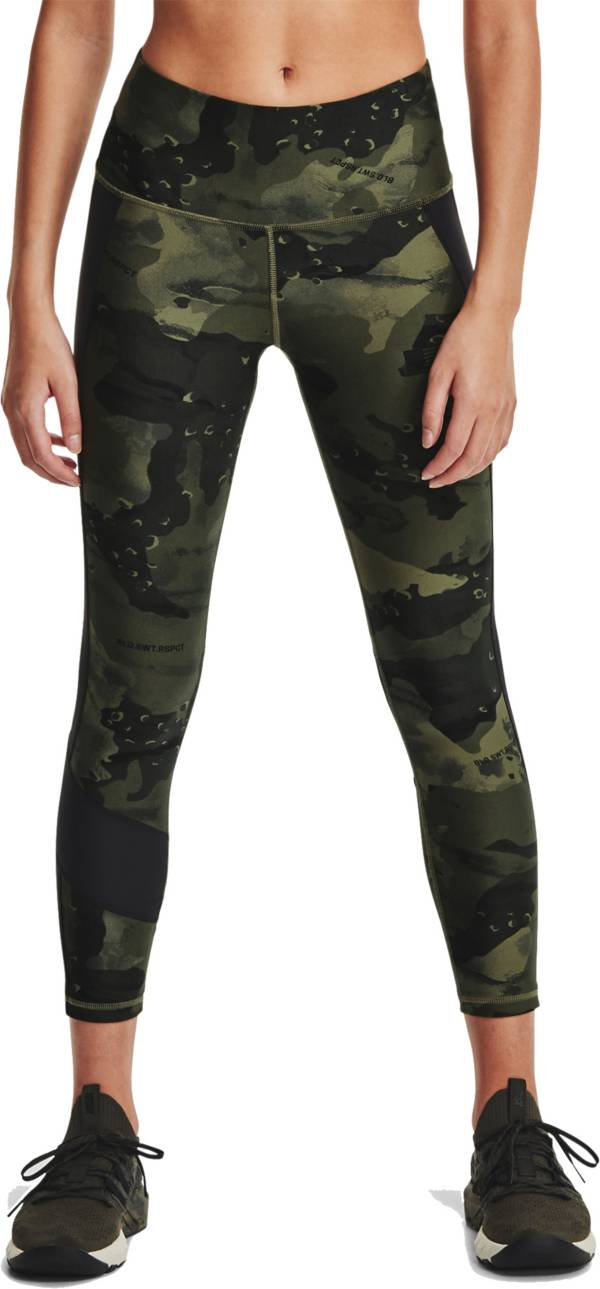 Under Armour Women's Project Rock Veteran's Day Ankle Crop Compression Leggings product image