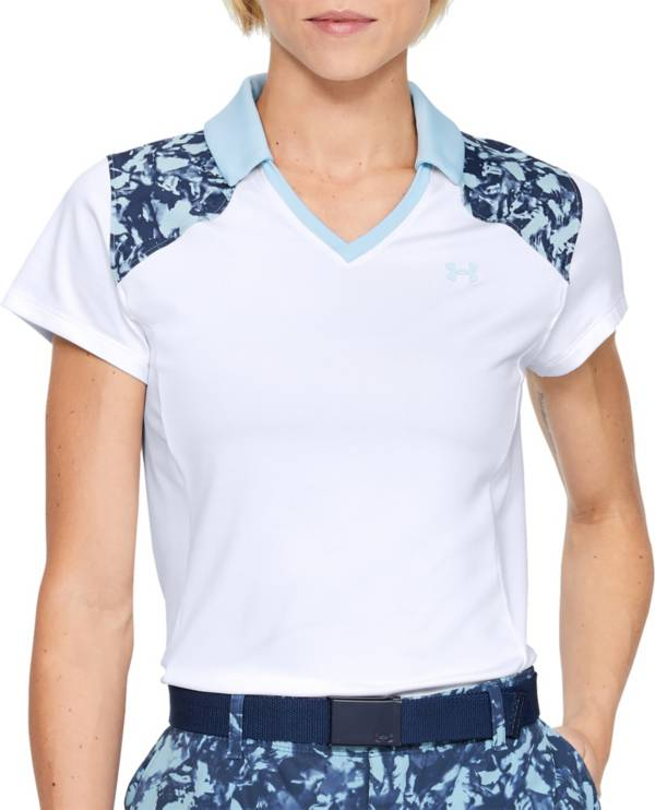 Under Armour Women's Zinger Color Blocked Short Sleeve Golf Polo product image
