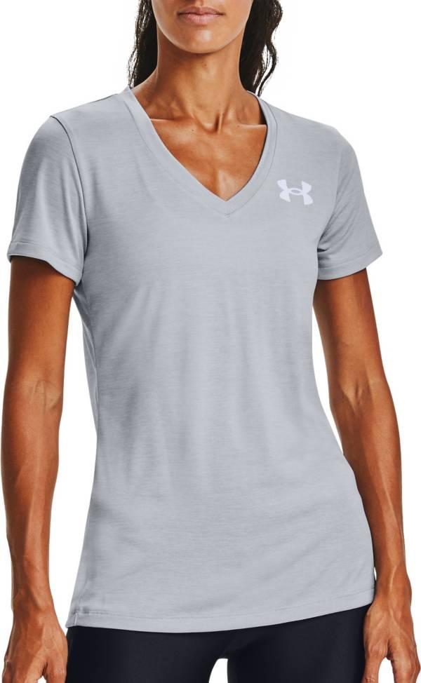 Under Armour Women's Tech Twist Graphic Back Wordmark Short Sleeve V-Neck T-Shirt product image