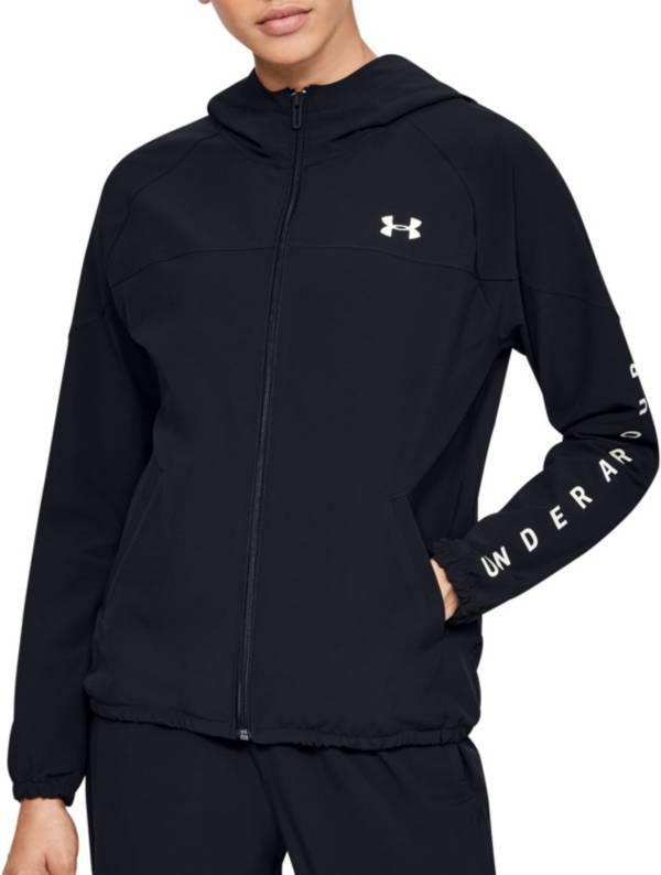 Under Armour Women's Woven Branded Full-Zip Hooded Jacket product image