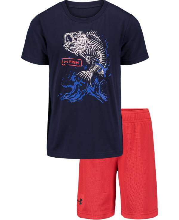 Under Armour Boys' Bass Bones T-Shirt and Shorts 2-Piece Set product image