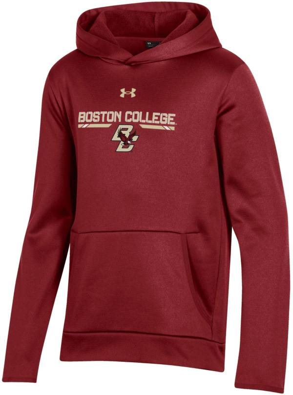 Under Armour Youth Boston College Eagles Maroon Armour Fleece Pullover Performance Hoodie product image