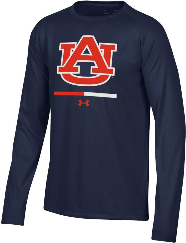 Under Armour Youth Auburn Tigers Blue Armour Fleece Pullover Performance Hoodie product image